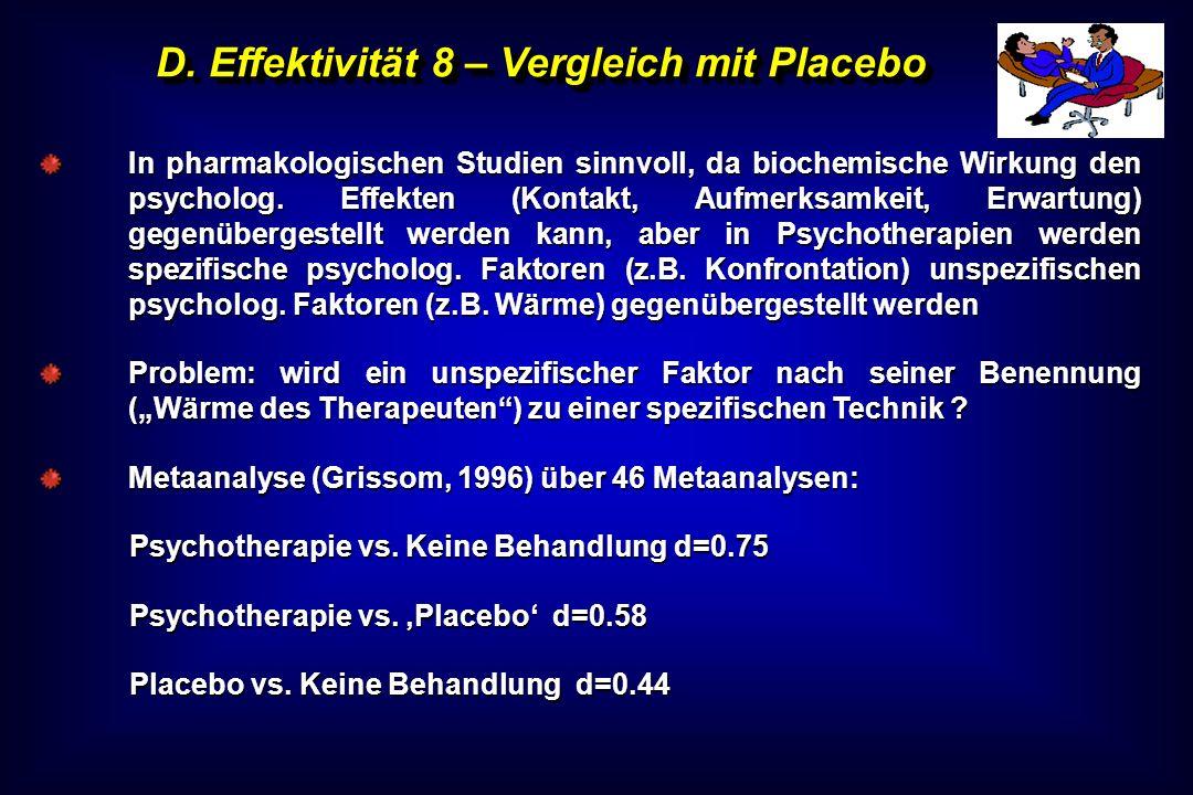D. Effektivität 8 – Vergleich mit Placebo