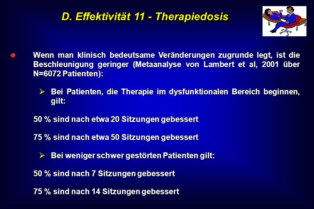D. Effektivität 11 - Therapiedosis