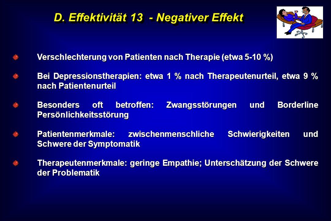 D. Effektivität 13 - Negativer Effekt