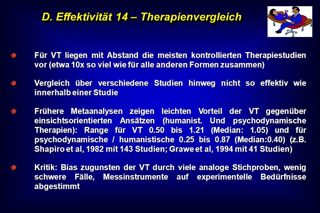 D. Effektivität 14 – Therapienvergleich