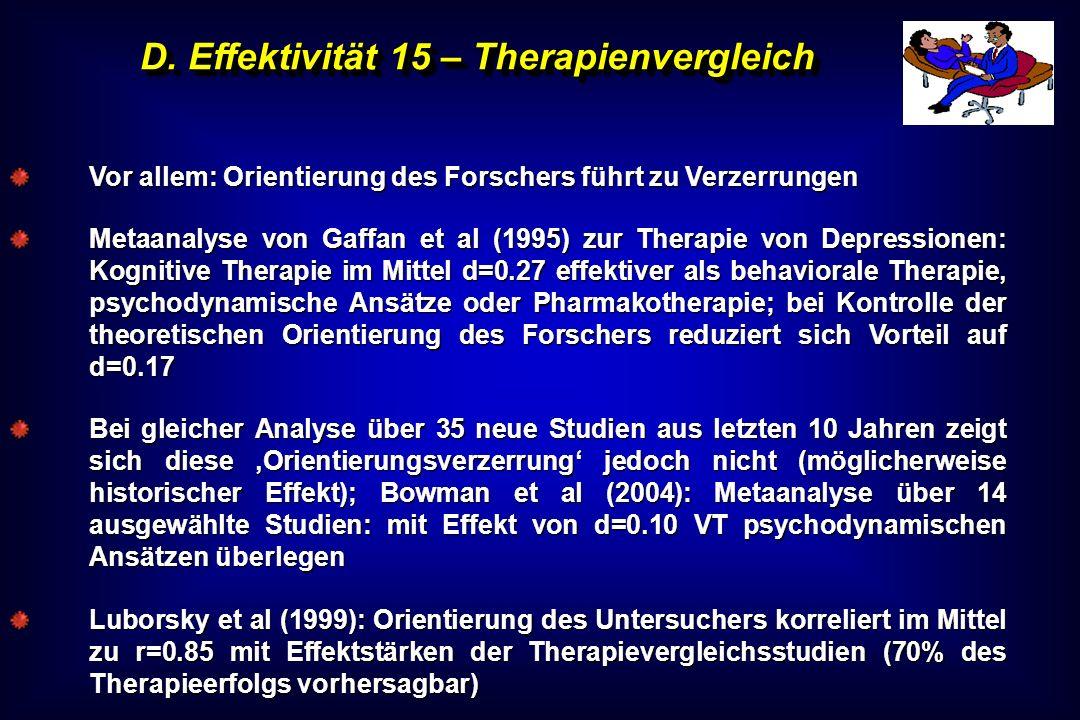 D. Effektivität 15 – Therapienvergleich