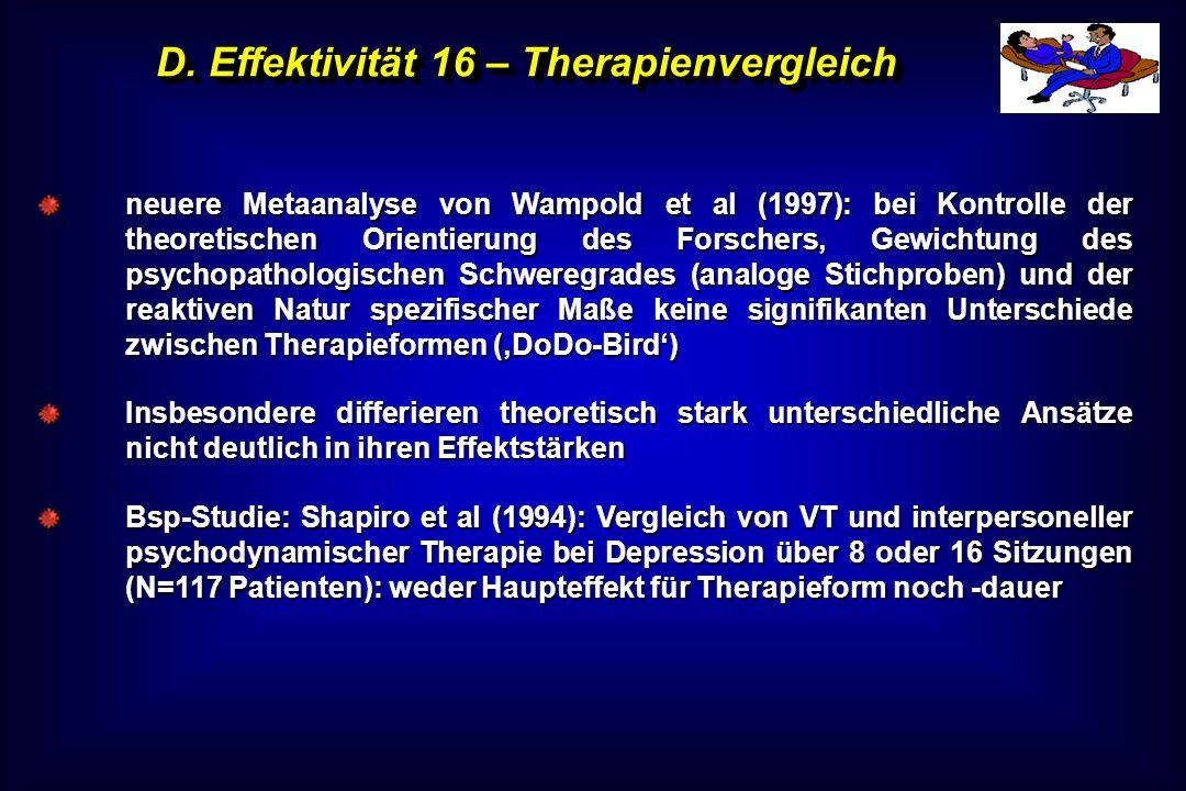 D. Effektivität 16 – Therapienvergleich