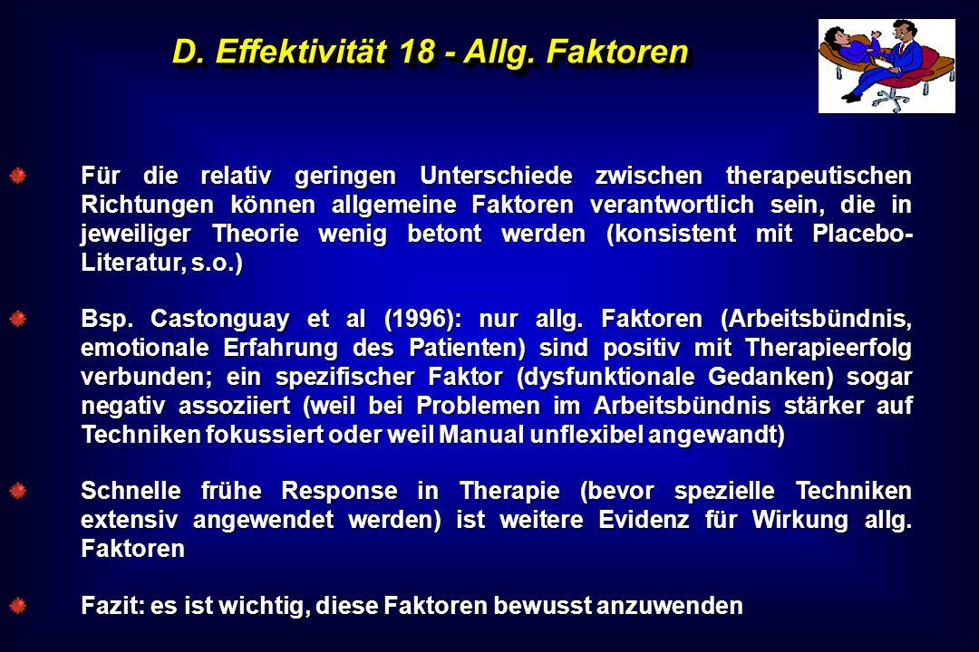 D. Effektivität 18 - Allg. Faktoren