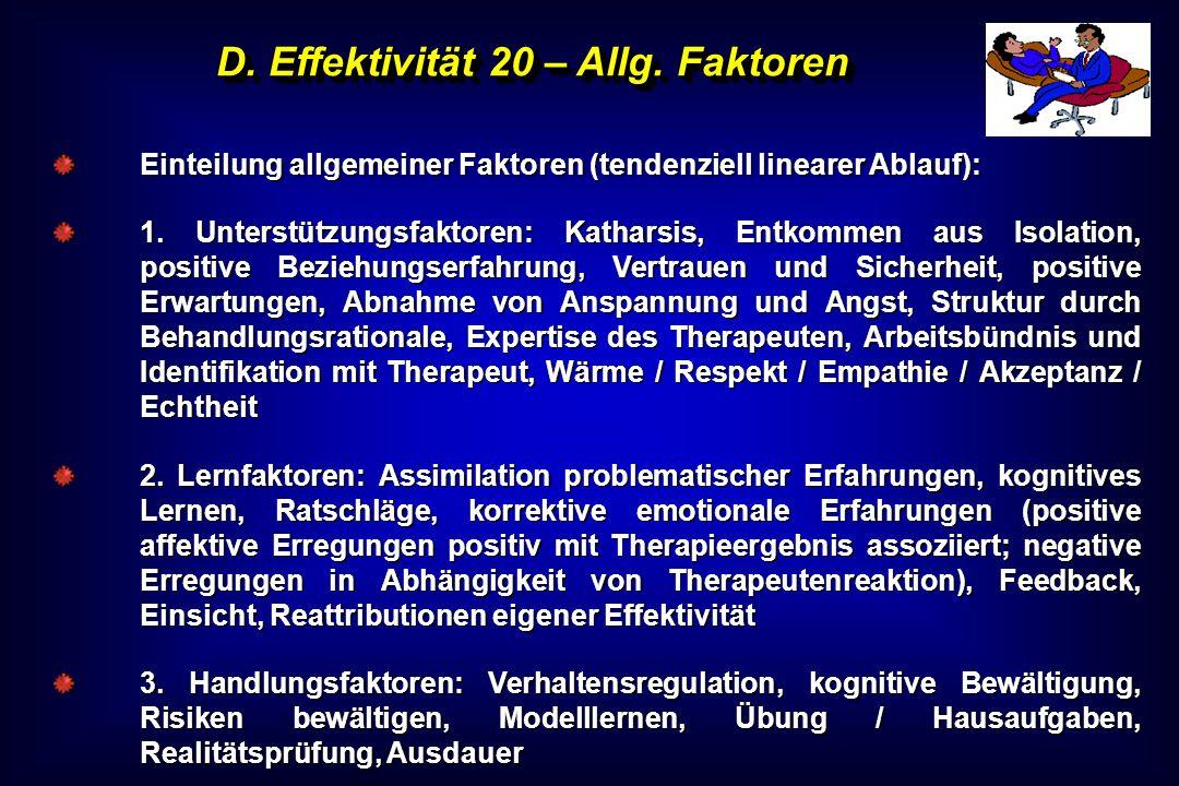 D. Effektivität 20 – Allg. Faktoren