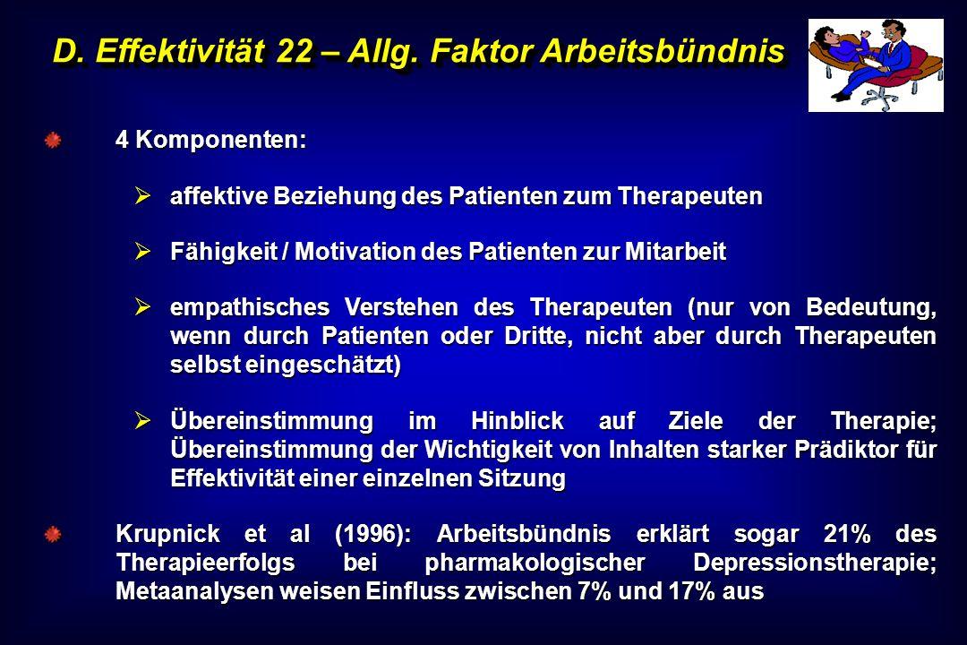 D. Effektivität 22 – Allg. Faktor Arbeitsbündnis