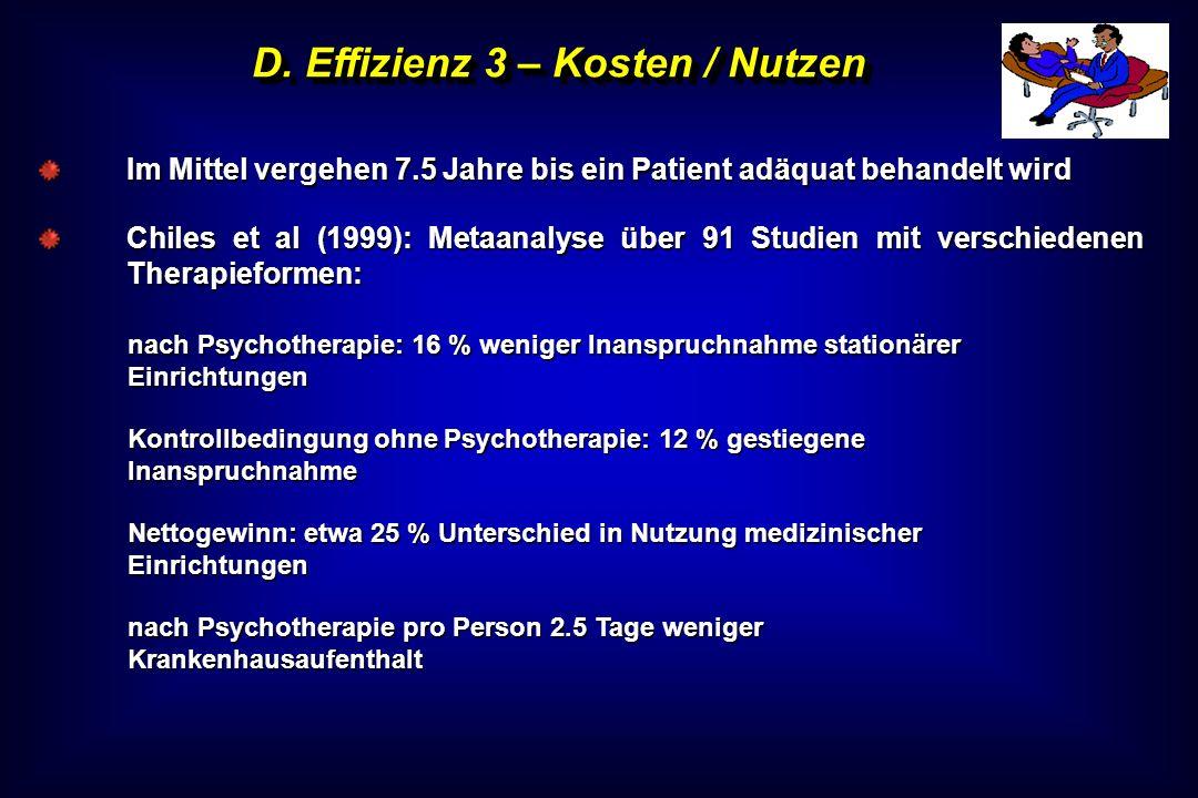 D. Effizienz 3 – Kosten / Nutzen