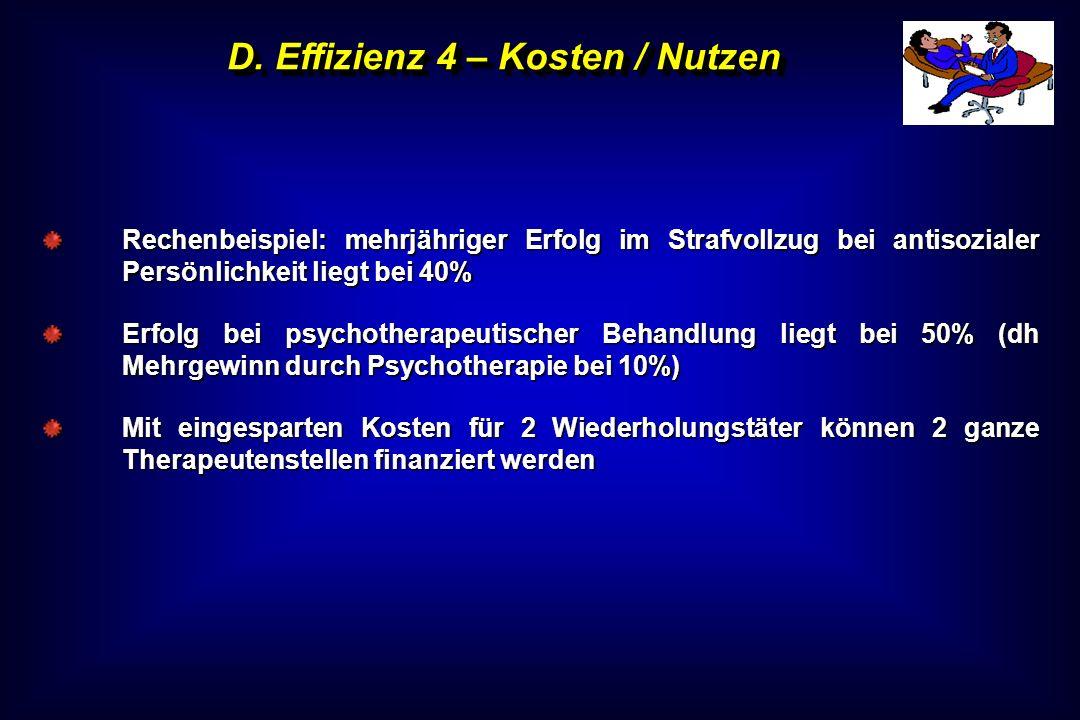 D. Effizienz 4 – Kosten / Nutzen
