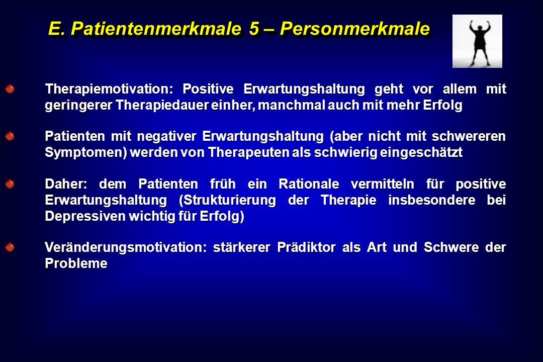 E. Patientenmerkmale 5 – Personmerkmale