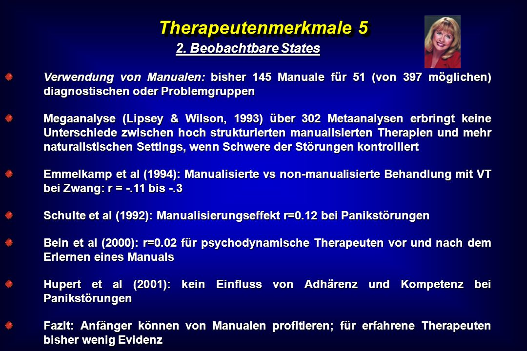 Therapeutenmerkmale 5 2. Beobachtbare States