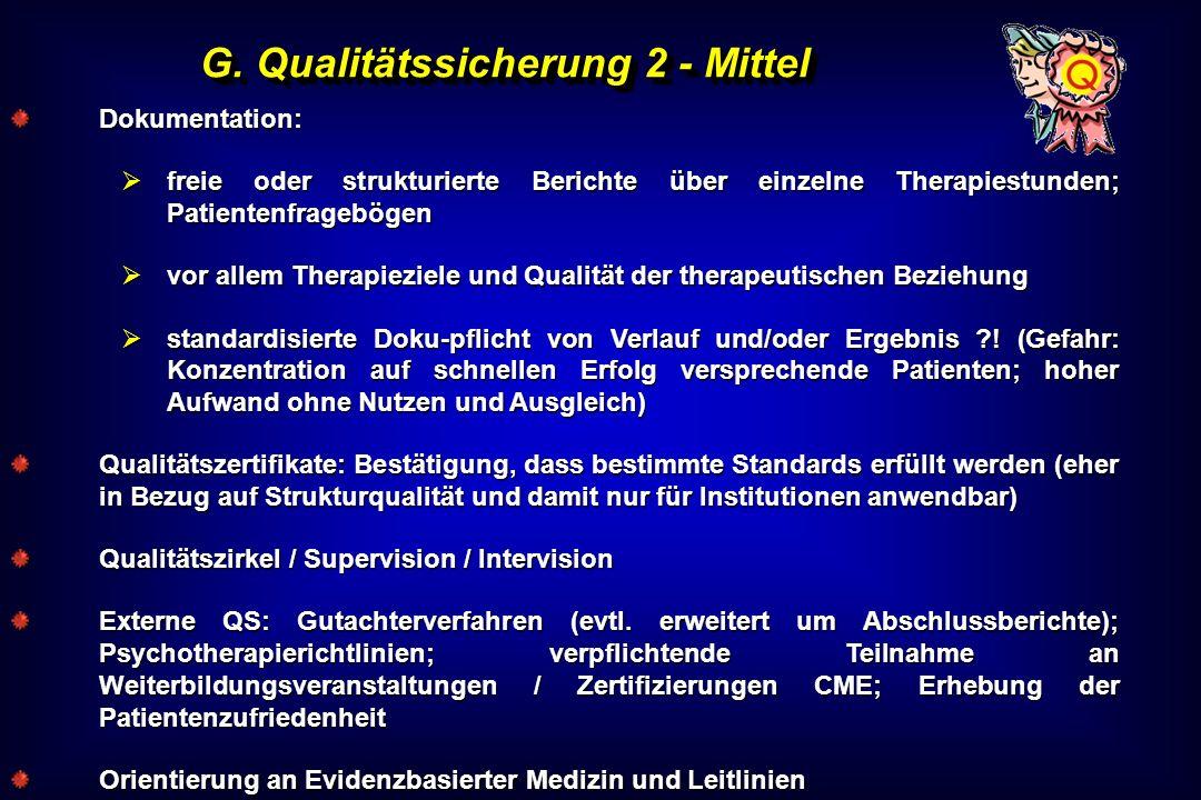 G. Qualitätssicherung 2 - Mittel