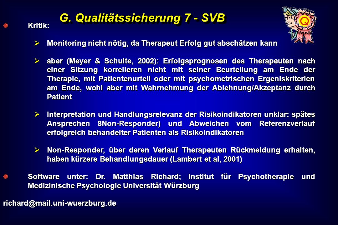 G. Qualitätssicherung 7 - SVB