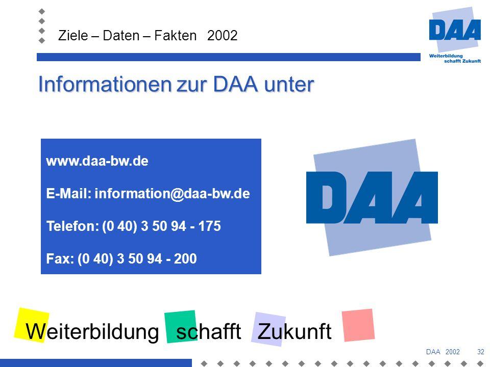 Informationen zur DAA unter