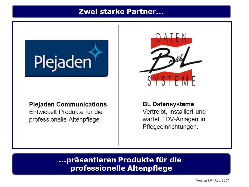 ...präsentieren Produkte für die professionelle Altenpflege