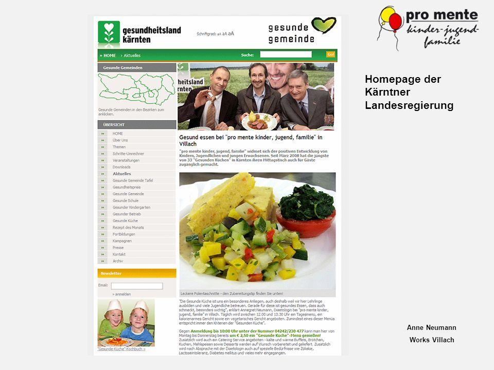 Homepage der Kärntner Landesregierung