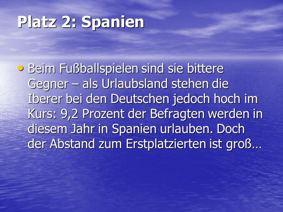 Platz 2: Spanien