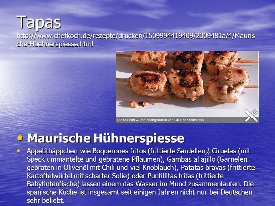 Tapas http://www. chefkoch
