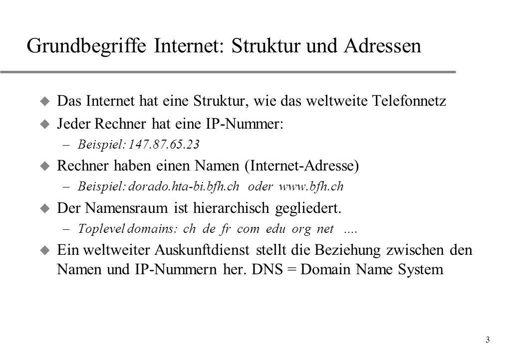 Grundbegriffe Internet: Struktur und Adressen