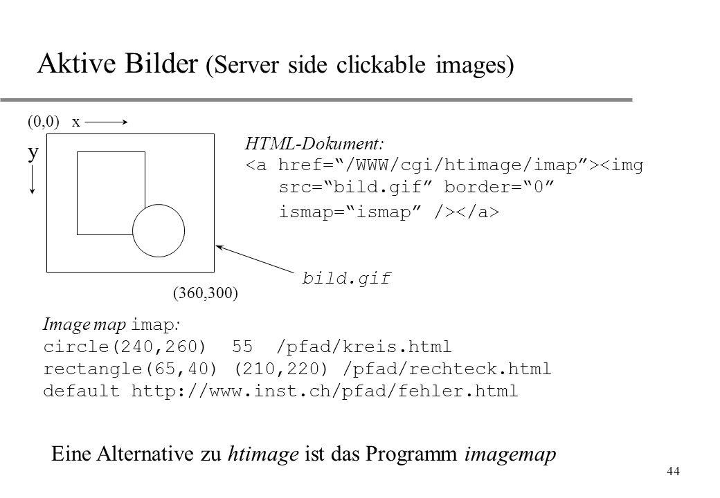 Aktive Bilder (Server side clickable images)
