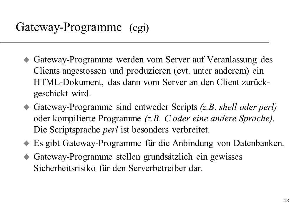Gateway-Programme (cgi)