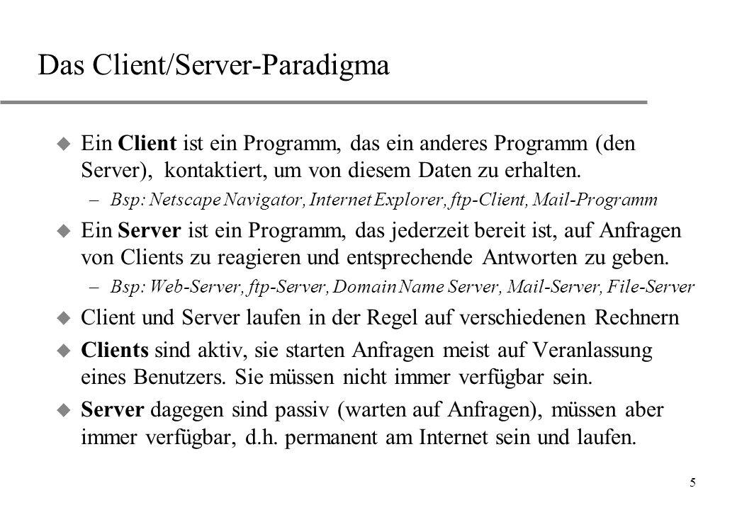 Das Client/Server-Paradigma
