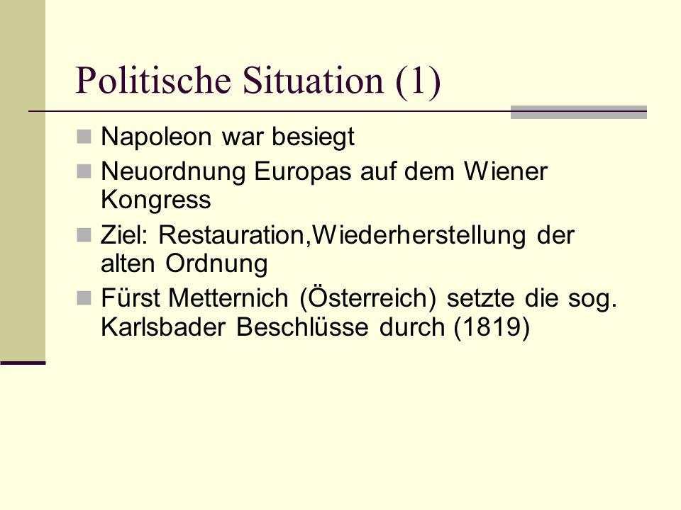 Politische Situation (1)