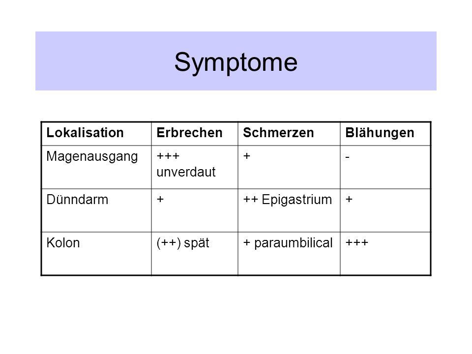 Symptome Lokalisation Erbrechen Schmerzen Blähungen Magenausgang