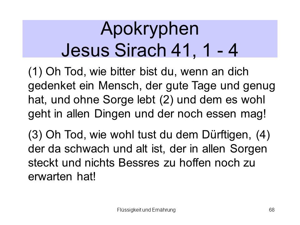 Apokryphen Jesus Sirach 41, 1 - 4