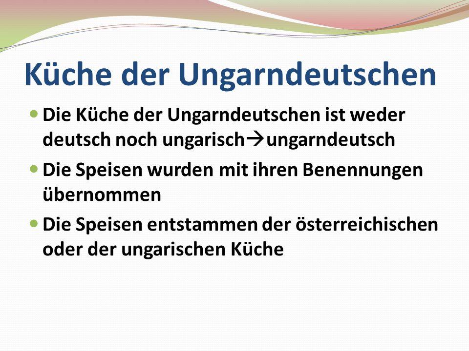 Küche der Ungarndeutschen
