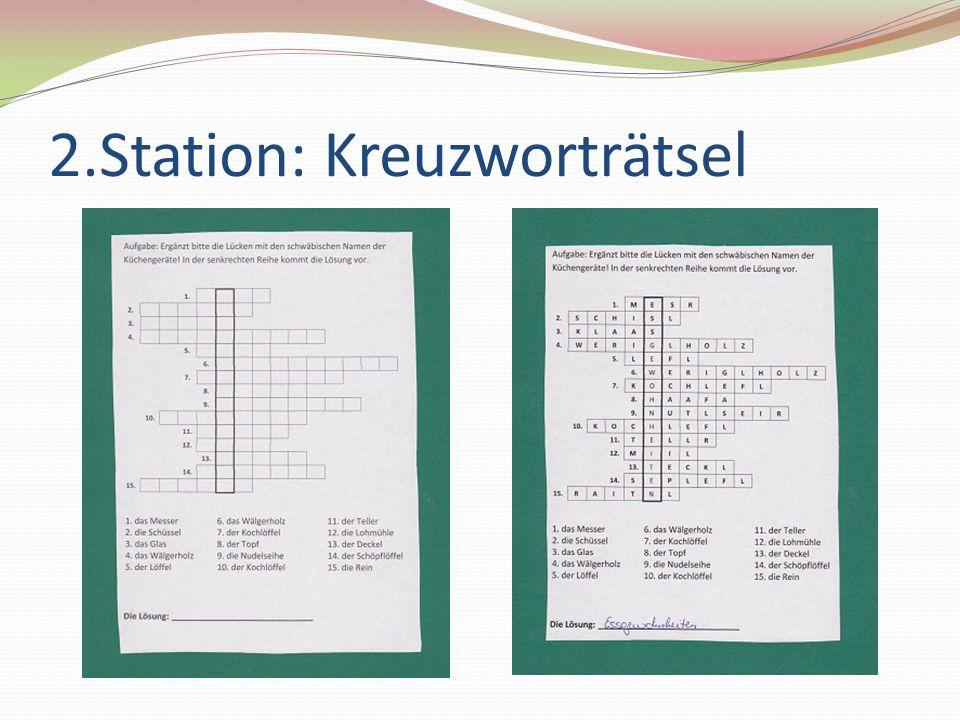 2.Station: Kreuzworträtsel