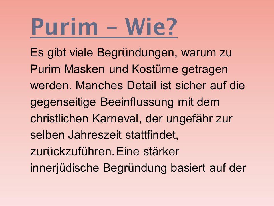 Purim – Wie