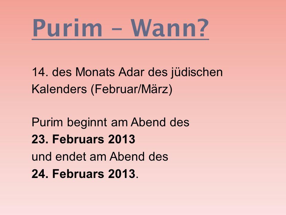 Purim – Wann