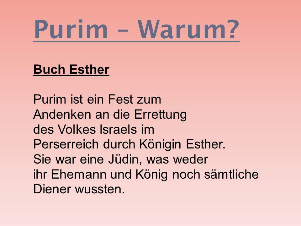 Purim – Warum
