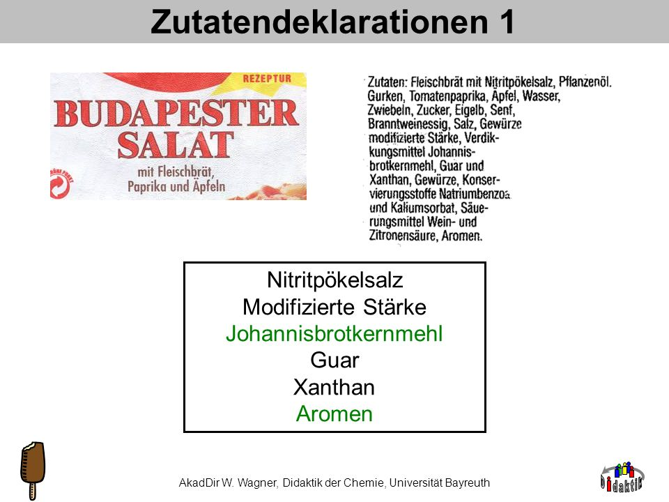 Zutatendeklarationen 1