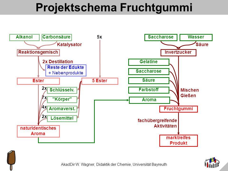 Projektschema Fruchtgummi