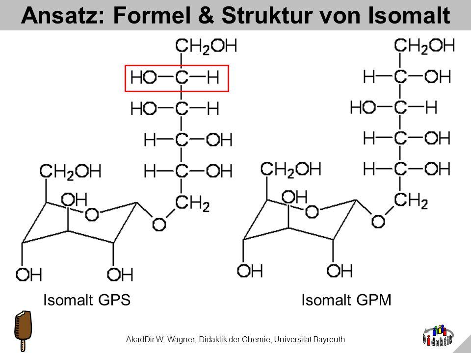Ansatz: Formel & Struktur von Isomalt
