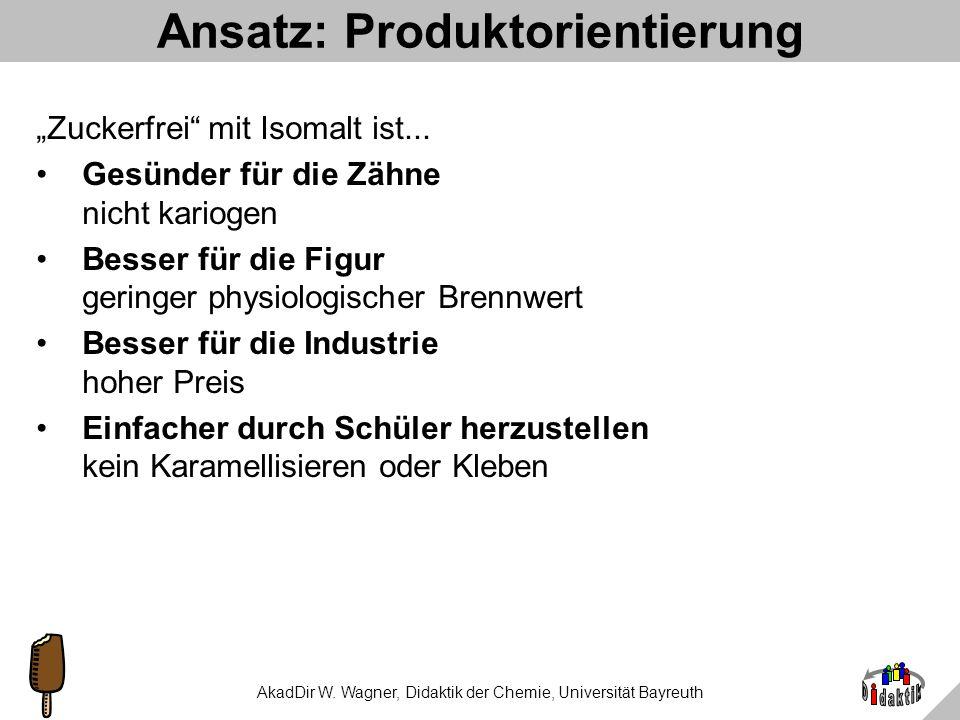 Ansatz: Produktorientierung
