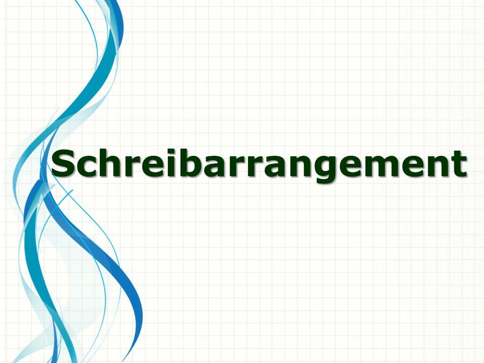 Schreibarrangement