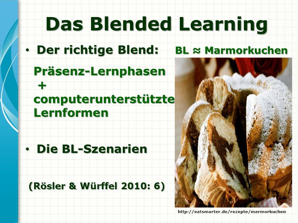 Das Blended Learning Der richtige Blend: BL ≈ Marmorkuchen