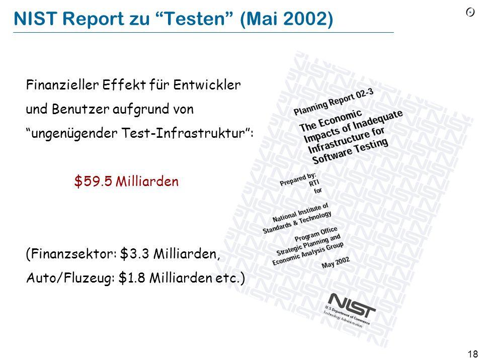 NIST Report zu Testen (Mai 2002)