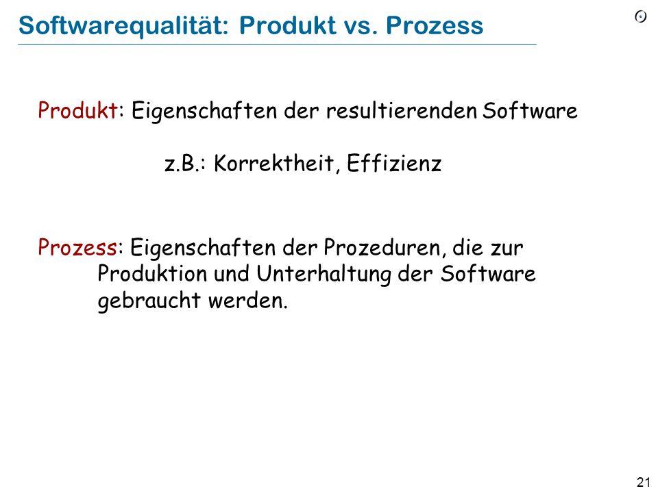 Softwarequalität: Produkt vs. Prozess