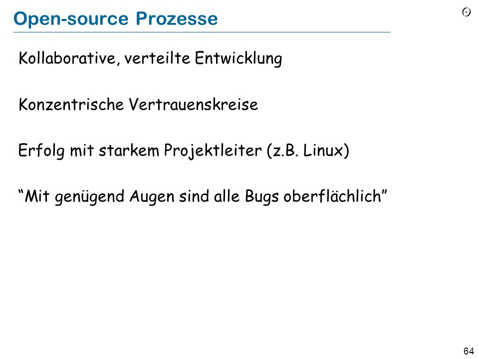 Open-source Prozesse Kollaborative, verteilte Entwicklung