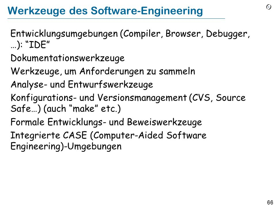 Werkzeuge des Software-Engineering