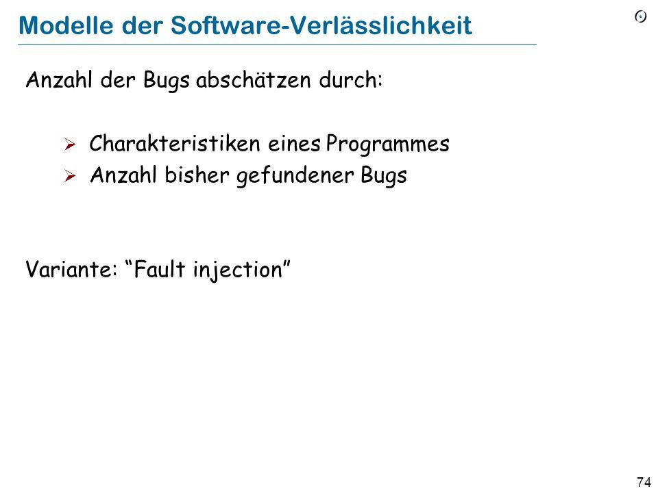 Modelle der Software-Verlässlichkeit