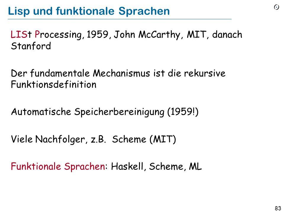 Lisp und funktionale Sprachen