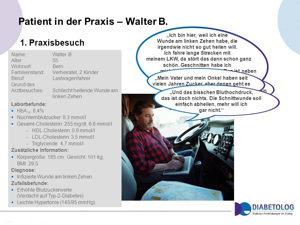 Patient in der Praxis – Walter B.