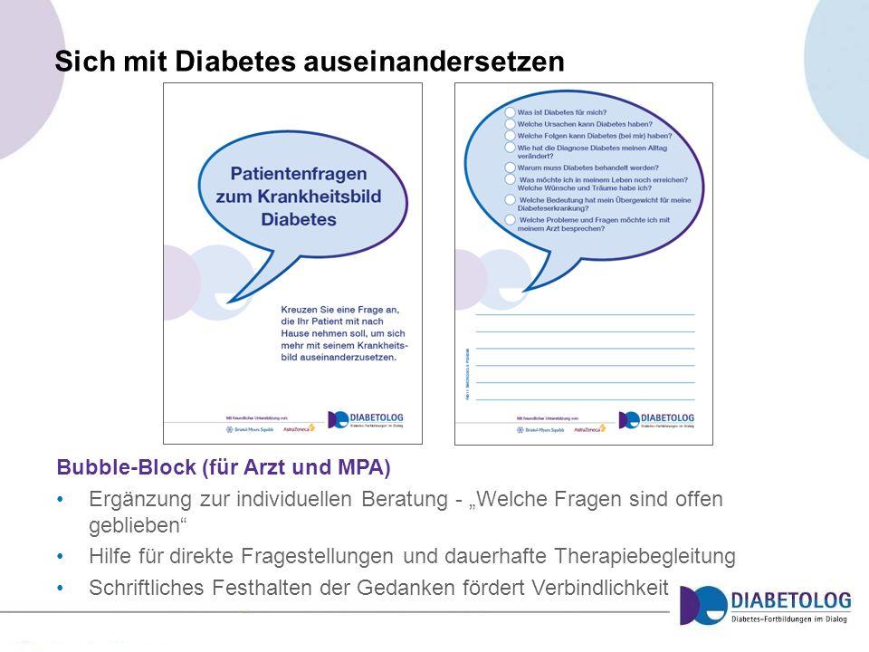 Sich mit Diabetes auseinandersetzen
