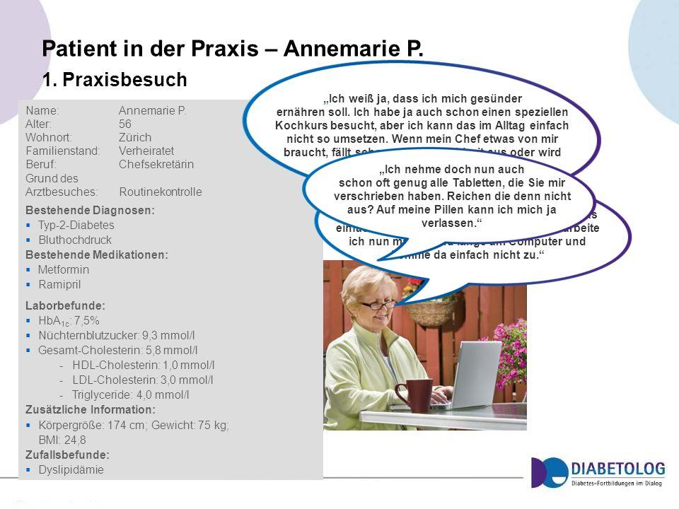 Patient in der Praxis – Annemarie P.
