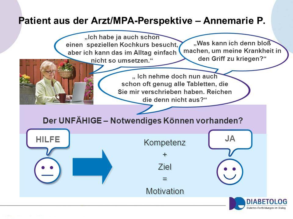 Patient aus der Arzt/MPA-Perspektive – Annemarie P.