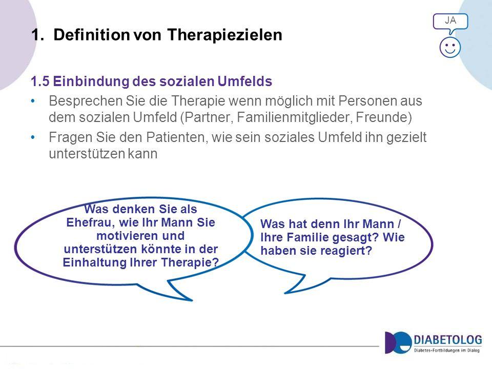 1. Definition von Therapiezielen