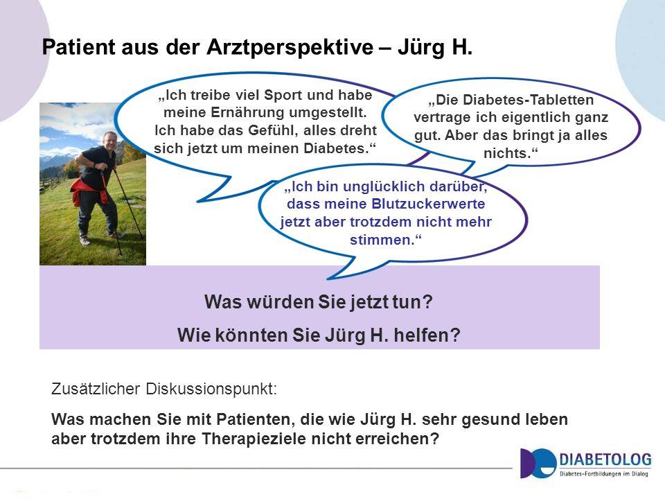 Patient aus der Arztperspektive – Jürg H.